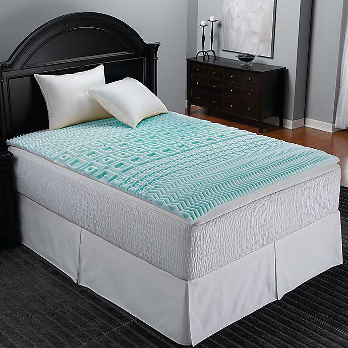 Sleep Zone 5 Zone Foam Egg Crate Mattress Topper in Blue | Bed