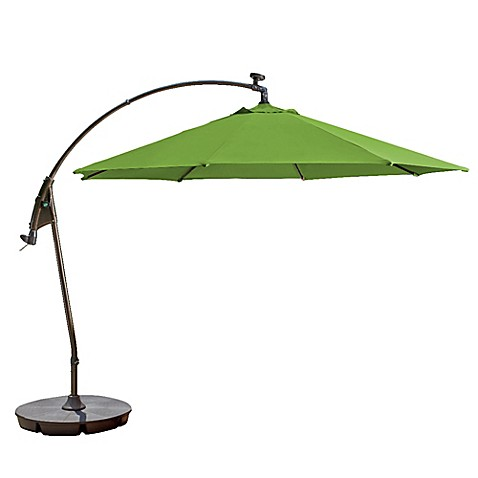 Buy 11 Foot Round Solar Cantilever Umbrella In Sunbrella