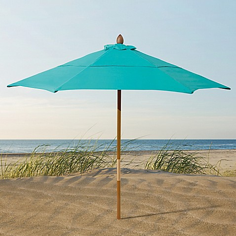 Resort 7 3 4 Foot Wood Beach Umbrella Bed Bath Amp Beyond