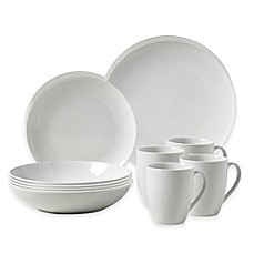 image of Tabletops Gallery® Collins 16-Piece Coupe Dinnerware Set