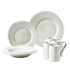 Image Of Tabletops Gallery® Parker 16 Piece Rim Dinnerware Set