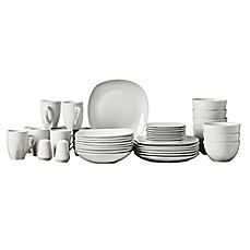 image of Tabletops Gallery® Quinto 50-Piece Square Dinnerware Set