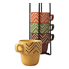 image of Tabletops Gallery® Oscar 5-Piece Stacking Mug Set