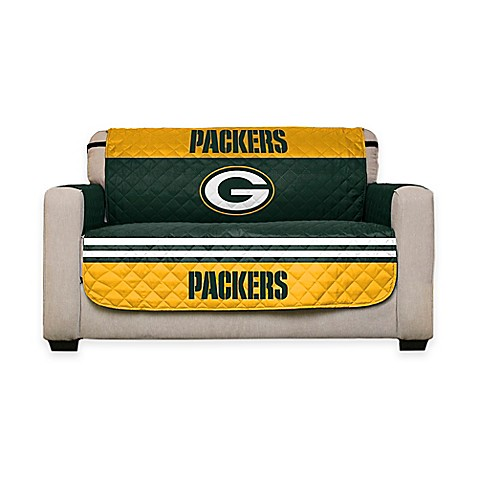 nfl green bay packers love seat cover bed bath beyond. Black Bedroom Furniture Sets. Home Design Ideas