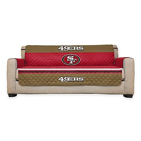 nfl san francisco 49ers sofa cover bed bath beyond. Black Bedroom Furniture Sets. Home Design Ideas