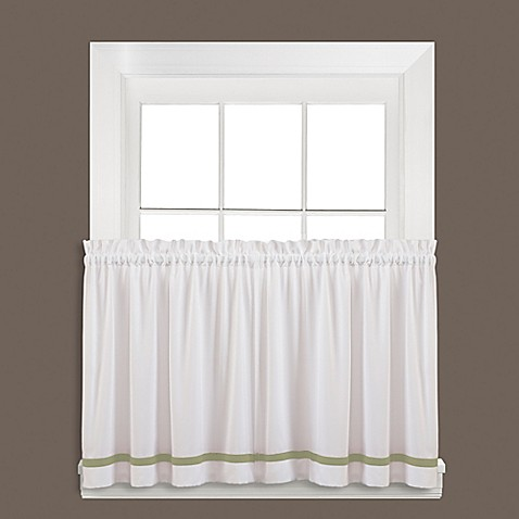 Buy Kate 36 Inch Window Curtain Tier Pair In Sage From Bed Bath Beyond