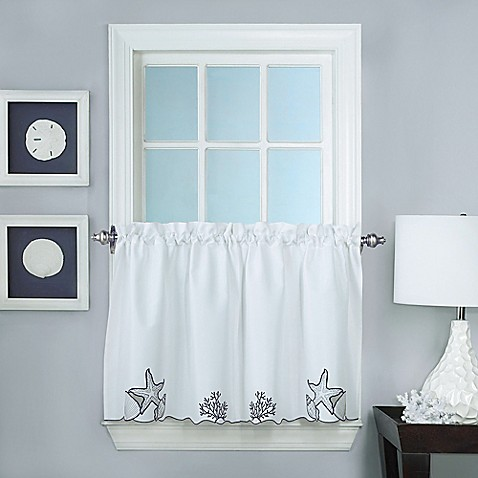 Buy Biscayne 36 Inch Window Curtain Tier Pair From Bed Bath Beyond