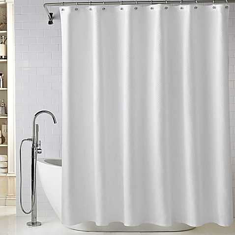 Wamsuttareg Diamond Matelasse Shower Curtain In White