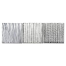 White Metal Wall Art metal wall decor - bed bath & beyond