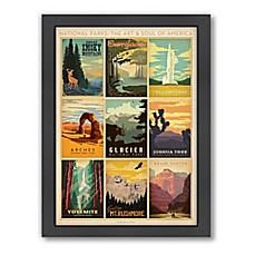 Image Of National Parks Multi Print Framed Wall Art By Anderson Design Group