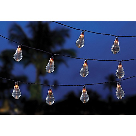 10 Bulb Solar Wire Wrapped Ball String Lights Bed Bath