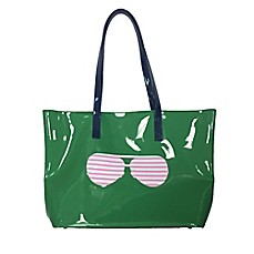 image of PVC Sunglasses Tote in Green