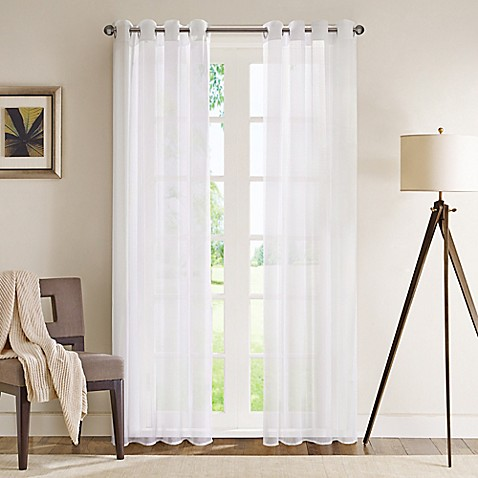 buy madison park wynn 84 inch grommet top sheer window
