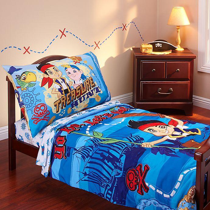 Disney Jake And Neverland Piirates 4 Piece Toddler Bedding Set Buybuy Baby