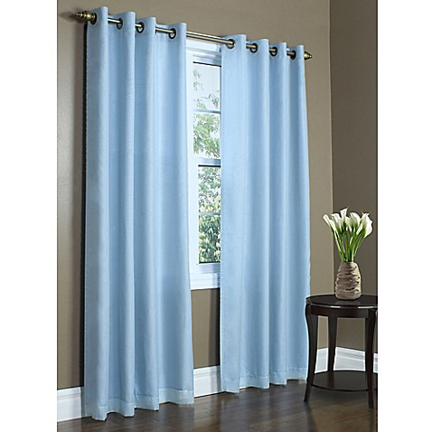 Buy commonwealth home fashions rhapsody 84 inch double for Double width curtain lining