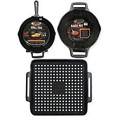 image of Just Grillin' Premium Cast Iron Grill Accessories