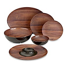 Image Of Phocacia Melamine Dinnerware Collection In Brown