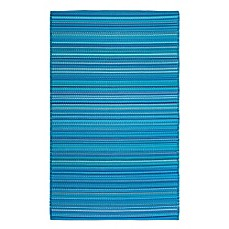image of FH Home Havana Recycled Patio Mat in Turquoise