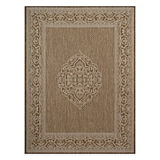 image of Medallion Border 7-Foot 10-Inch x 10-Foot Area Rug in Tan