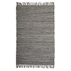 image of Handwoven Diamond Weave 2-Foot x 3-Foot Accent Rug in Light Blue