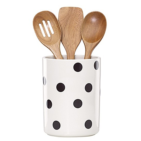 kate spade new york All in Good Taste™ Deco Dot Utensil Crock with 3 Utensils