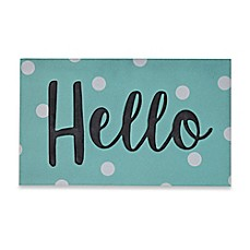 image of Mohawk Home Big Hello Confetti 30-Inch x 18-Inch Door Mat