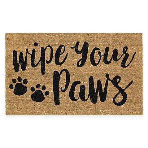 image of mohawk home wipe your paws coir door mat