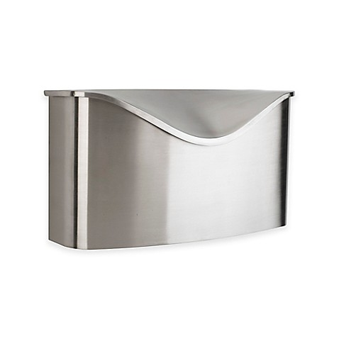 Umbra 174 Postino Stainless Steel Wall Mount Mailbox With