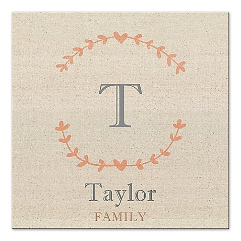 Family Name Canvas Wall Art - Bed Bath & Beyond