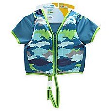 image of Aqua Leisure® Boys' Short Sleeve Camo Swim Vest in Blue
