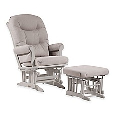 image of dutailier ultramotion sleigh glider and nursing ottoman in whitelight grey