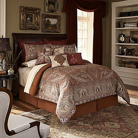 Downton Abbey 174 Grantham Comforter Set In Rust Bed Bath