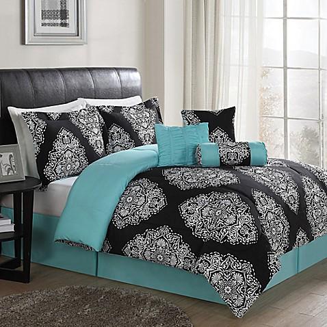 barba 7 piece reversible comforter set bed bath beyond. Black Bedroom Furniture Sets. Home Design Ideas
