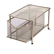 image of .ORG Large Under the Sink Mesh Slide-Out Cabinet Drawer with Shelf