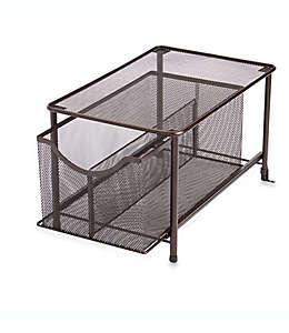 Organizador grande con cajón deslizable .ORG™, con malla de acero en bronce