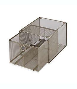 Organizador apilable con cajón de acero ORG™ grande de malla