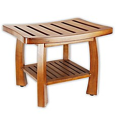 teak shower bench | Bed Bath & Beyond
