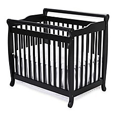image of DaVinci Emily 2-in1 Convertible Mini Crib in Ebony