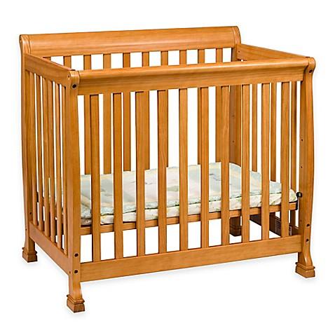 davinci kalani mini crib in honey oak bed bath beyond