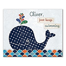 image of Just Keep Swimming Canvas Wall Art