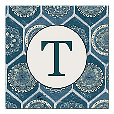 image of Blue Exotic Emblems Letter Canvas Wall Art