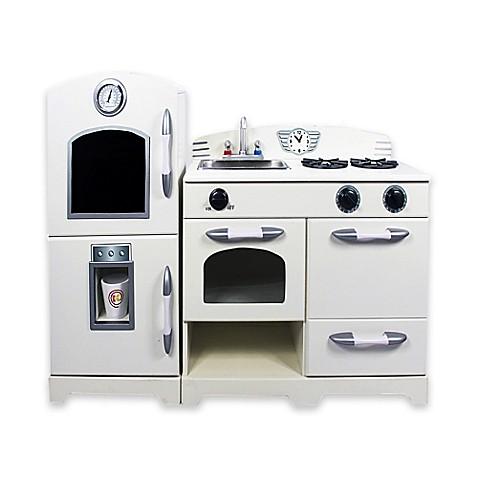 Teamson 2 Piece Wooden Play Kitchen Set In White Bed Bath Beyond