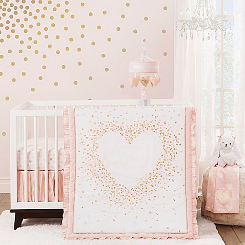 Lambs Amp Ivy 174 Sweetheart 3 Piece Crib Bedding Set Bed