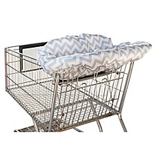 image of Itzy Ritzy® Ritzy Sitzy™ Shopping Cart and High Chair Cover in Grey Chevron