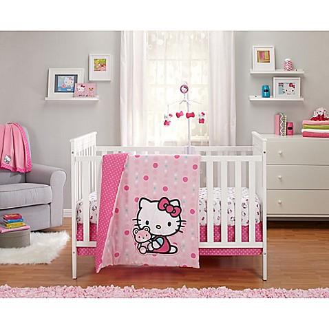 hello cute as a button crib bedding