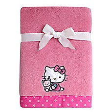 image of Hello Kitty® Cute as a Button Coral Fleece Blanket