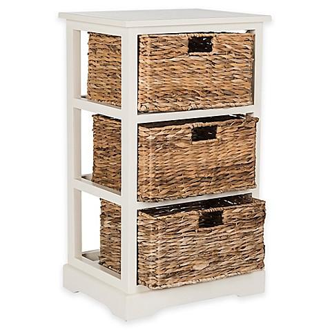 Buy Safavieh Halle 3 Wicker Basket Storage Side Table from