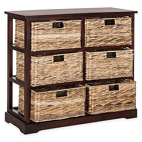 Superieur Safavieh Keenan 6 Wicker Basket Storage Chests