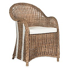 image of Safavieh Hemi Striped Wicker Club Chair in Natural