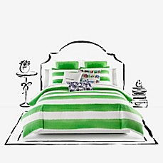 image of kate spade new york Rugby Stripe Duvet Cover Set